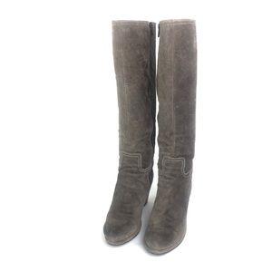 CLARKS Binocular Hazel Suede Wedge Boots